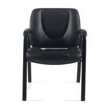 Leather Guest Chair with Coated Frame