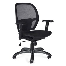 Mid-Back Mesh Tilter Executive Chair with Fixed Height Molded Arms