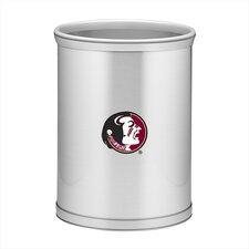 Collegiate Florida State Waste Basket in Brushed Chrome