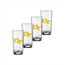 Collegiate Georgia Tech 16 Oz Glass (Set of 4)