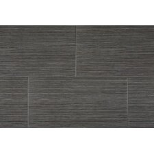 "Element Series 12"" x 24"" Porcelain Tile in Black"