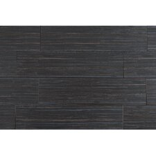 "Bamboo Series 6"" x 24"" Porcelain Tile in Bamboo Black"