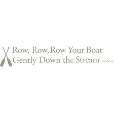Row Your Boat Baby Nursery Rhyme Wall Decal