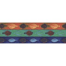 Destinations by the Shore Batik Fish Wall Border