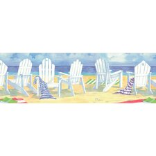 Destinations by the Shore Beach Front Seat Wall Border