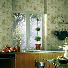 Kitchen and Bath Resource II Leaf Block Wallpaper