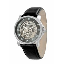 Men's Straps Automatics Watch in Gunmetal and Black