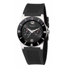 Men's Straps Sport Round Watch in Black