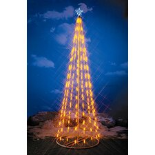 String Light Christmas Cone Tree in Yellow