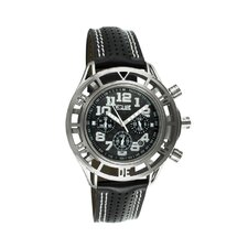 Chassis Men's Watch with Silver Case and Black / White Dial