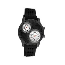 Octane Men's Watch with Black Case and White Dial