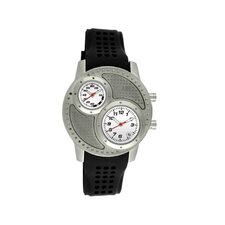 Octane Men's Watch with Silver Case and White Dial