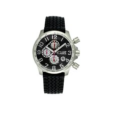 Hemi Men's Watch with Black Rubber Band and Black Dial