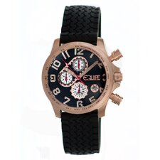 Hemi Men's Watch with Black Rubber Band and Rose Gold Case