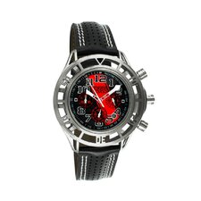 Mustang Boss 302 Mens Watch with Chrome Case and Black Dial