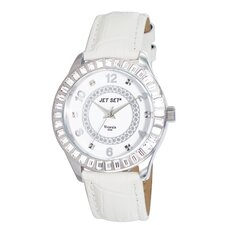 Venezia Ladies Watch with Silver Case and Crystal Bezel