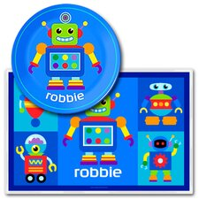Robots Personalized Meal Time Plate Set