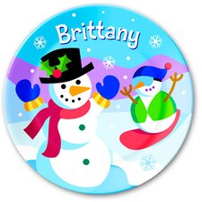 Snowman Personalized Kids Plate
