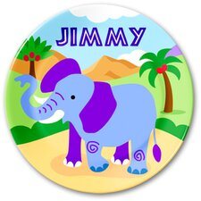 Wild Animals Personalized Kids Plate