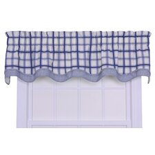 Logan Cotton Rod Pocket Large Scale Plaid Valance Window Curtain