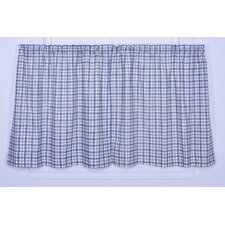 Bristol Cotton Two-Tone Plaid Tier Curtain