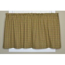 Charlestown Check Cotton Pocket Rod Tier Curtains