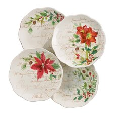 Winter Meadow Dessert Plate (Set of 4)