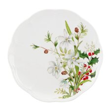 Winter Meadow Paper White Accent Plate