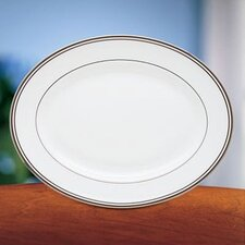 "Federal Platinum 13"" Oval Platter"