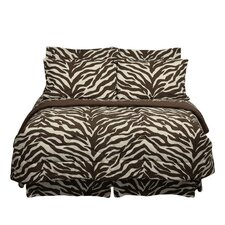 Brown Zebra Bed in a Bag Collection