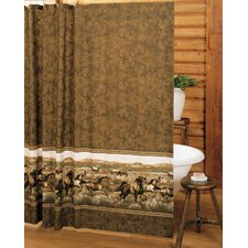 Wild Horses Cotton / Polyester Shower Curtain