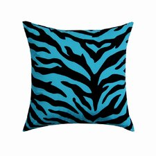 Zebra Cotton Blend / Polyester Square Pillow