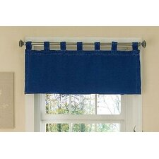 American Denim Cotton Tab Top Tailored Curtain Valance
