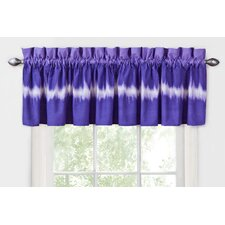 Tie Dye Cotton Blend Rod Pocket Tailored Curtain Valance