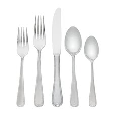 Ribbon Edge Frosted II Flatware 65 Piece Setting