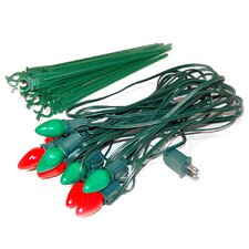 10 Count Electric Pathway Lights with Red and Green Bulbs