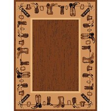 Lodge Design Boots Novelty Rug