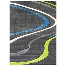 Studio 608 Charcoal Wave Design Rug