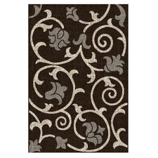 Lexington Chocolate Floral / Swirl Vine Rug