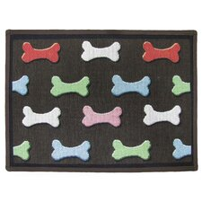 PB Paws & Co. Multi Bone Collection Tapestry Rug