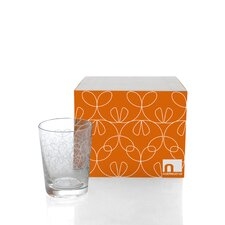 Ribbon Double Old Fashioned Glassware Set (Set of 4)