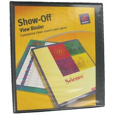 "1.5"" Show-Off View Binder in Black"