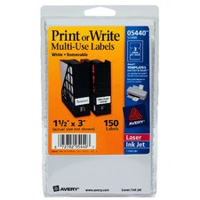 "3"" Print Or Write Label"