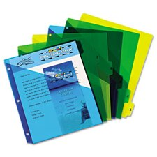 Preprinted Six-Tab Double Pocket Dividers