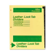 Office Essentials Printed Tab Index Divider Set (Set of 26)
