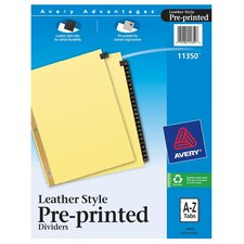 Leather A-Z Index Tab Divider