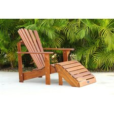 Signature Teak Adirondack Chair and Ottoman