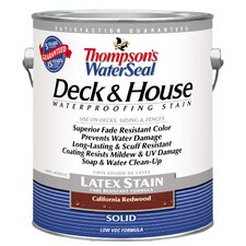 Thompson's® WaterSeal® Deck and House California Redwood Solid Latex Stain