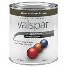 1 Quart Buckeye Brown Gloss Latex Enamel 410-65045 QT