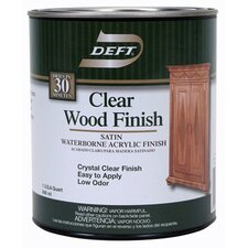 1 Quart Satin Waterborne Clear Wood